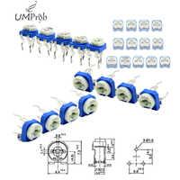 Trimming Potentiometer RM-065 top adjustment 100ohm-1Mohm RM065 Variable Resistors Assorted Kit 13Type*10Pcs=130Pcs