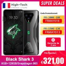 Black Shark 3 Requin noir 3 5G Version mondiale Snapdragon 865 8GB 128GB 6.67