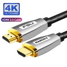 Cable HDMI 2,0, enchufe dorado de alta velocidad, 3M, 5M para conmutador divisor, PS4, proyector, HDTV, ordenador, vídeo, cable de Audio, Cabo, HDMI 4K