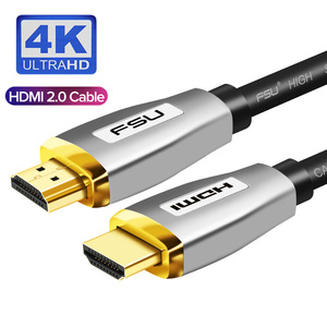 Gold plug HDMI Cable 2.0 4K 1080P HDMI to HDMI splitter Zinc alloy 3M 5M for switcher PS4 Projector HDTV PC Computer cable HDMI(China)