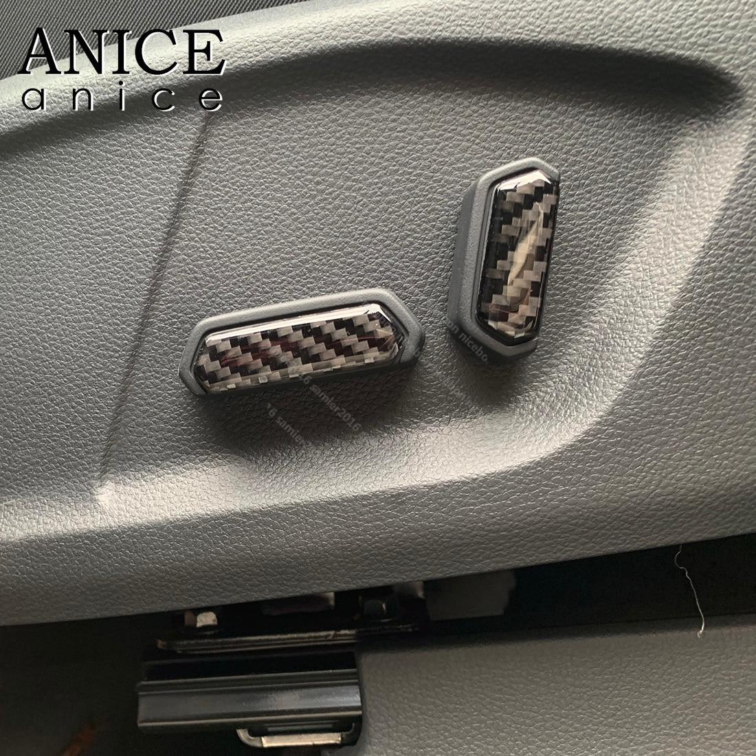Carbon Fiber Inner Seat Adjust Button Case Cover Fit For Ford Ranger Everest Endeavour Mazda BT-50 BT50 2015 2016 2017 2018 2019