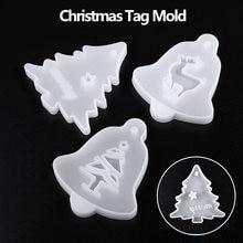 3 шт/компл Рождественская висячая бирка силиконовая форма для