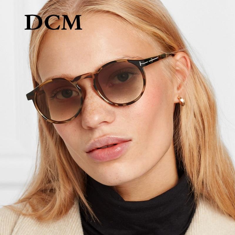 DCM Newest Sunglasses Men Women Fashion Round Frame Brand Designer Driving Sun Glasses Oculos De Sol UV400