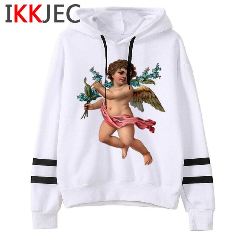 New Angel Aesthetic Harajuku Hoodies Men/women Ullzang Funny Cartoon 90s Sweatshirt Winter Warm Grunge Graphic Hoody Male/female 18
