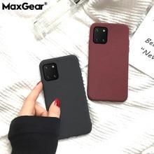 Cor Matte Case Para Samsung Nota 20 8 9 10 Plus S8 S9 S20 Pro S10 E Lite UM 10 20 40 41 50 81 91 71 90 5G Arenito Capa Mole
