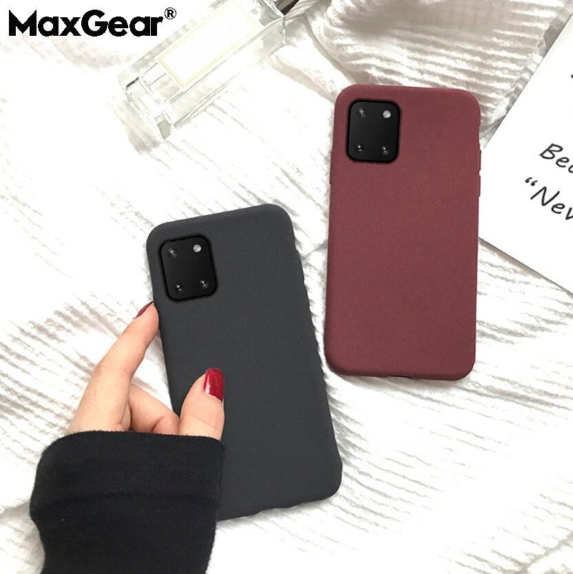 Матовый чехол для Samsung Note 20 8 9 10 Plus S8 S9 S20 Pro S10 E Lite A 10 20 40 41 50 81 91 71