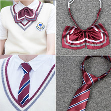 Tie Uniforms Japanese College British Students Summer Male And Stripe Bow-Tie Class-Service