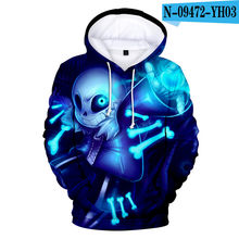 3 to 14 years kids hoodie Undertale Hoodies Design Sans Pattern 3D boy/girls Hooded Sweatshirts Casual teen pullover hoodies