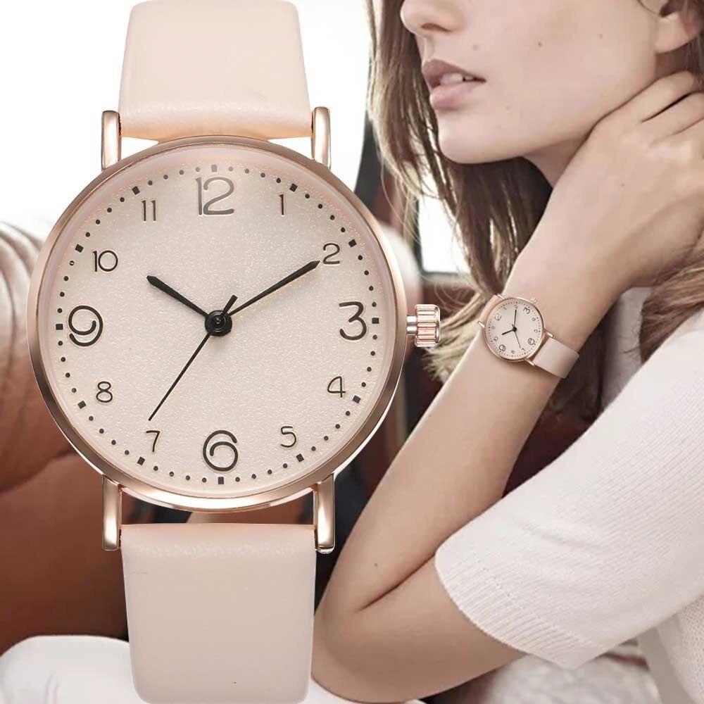 Women's Watches Rose Gold Luxury Fashion Simple All-match Women Clock Quartz Wristwatch Reloj Mujer Clock Relogio Feminino