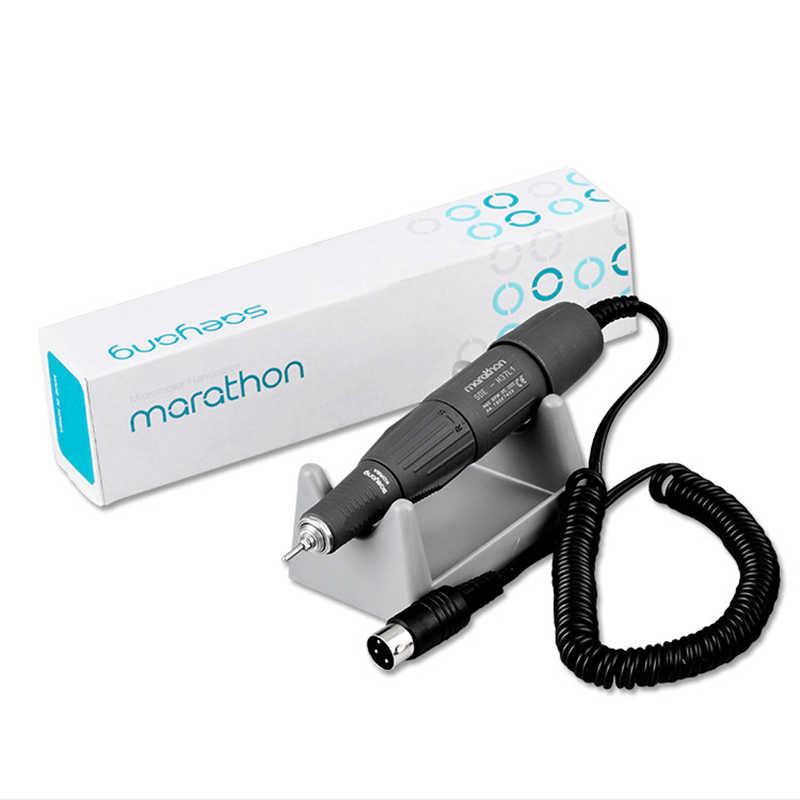 Maraton Control Box dla Strong 210 105L Micro motor rękojeść 65W Manicure Pedicure maszyna elektryczna wiertarka do paznokci pedał narzędzie