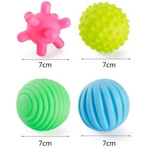 Image 3 - ילדי כדור יד חושי תינוק צעצוע גומי מרקם רב חושים מישוש מגע צעצועי תינוק אימון עיסוי כדורים רכים