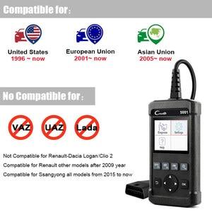 Image 5 - Lançamento obd2 scanner completo obd obdii motor leitor de código cr5001 ferramenta de verificação de diagnóstico do carro multi idioma scanner automotivo