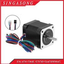 Nema 17(Национальная ассоциация владельцев электротехнических предприятий) шаговый двигатель 48 мм Nema17 двигатель 42bygh 2A 4-свинец шаговый двигатель кабель длиной 1 м для 3D-принтеры CNC XYZ двигатель