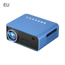T4 Mini Portable Projector With Screen Mobile Phone Projector Large Screen And Stereo Speakers Basic Edition