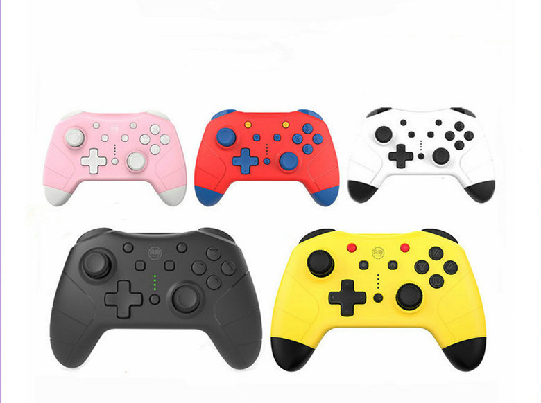 Yellow Pink And Black Wireless Bluetooth 2.0 Gamdpad With NFC Funtion For Nintend Switch Pro