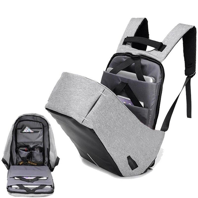 Men Anti Theft Backpack 15.6inch Laptop Backpack USB Charging Men Waterproof Travel Backpack College Student School Bags Mochila
