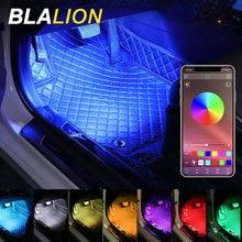 Car Foot Ambient Light Auto Led Backlight Interior Decorative Atmosphere Lights App Sound Control RGB Strip Lights 12V Neon Lamp