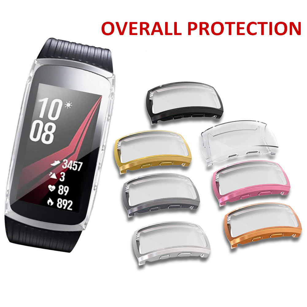 Soft TPU Screen Protector Case for Samsung Gear fit 2 Pro Overall Protection Cover for Gear fit2 Pro Bumper Shell Accessories