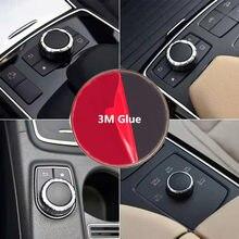 1 pçs de alta qualidade botão ar condicionado interior do carro adesivo capa emblema adesivos para benz gla cla amg a b classe