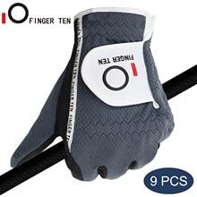 Golf-Gloves Hand Sports Mens Right Winter Left 9pcs Rain-Grip Wet Durable Soft Hot