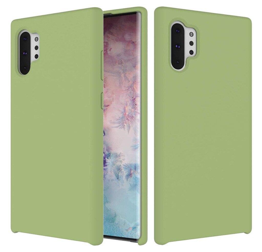 Fashion Phone Case Thin Silicone Leather Soft Case Cover For Samsung Galaxy Note 10+/Plus 6.8Inch Caja Del Telefono MovilGuahao