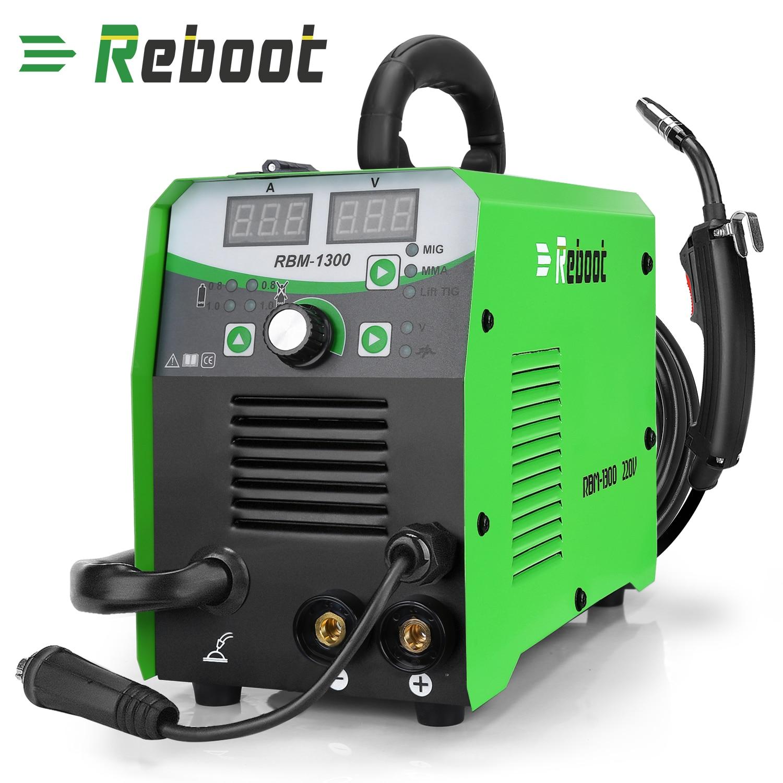 REBOOT Mig Welder MIG1300 MMA MAG MIG Functions Welding Machine 220V With Accessories MIG  MMA LIFT-TIG 3 In 1 Welder EU/US Plug