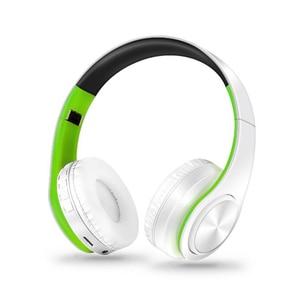 Image 4 - 새로운 휴대용 무선 헤드폰 블루투스 하이파이 스테레오 접이식 헤드셋 오디오 Mp3 조정 가능한 이어폰, 음악 용 마이크 포함