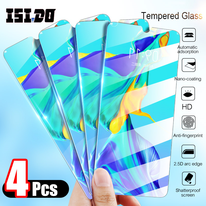 4Pcs Tempered Glass For Huawei P20 Pro P30 Lite Mate 10 20 Lite Screen Protector Protective Glass For Huawei P Smart 2019 Glass