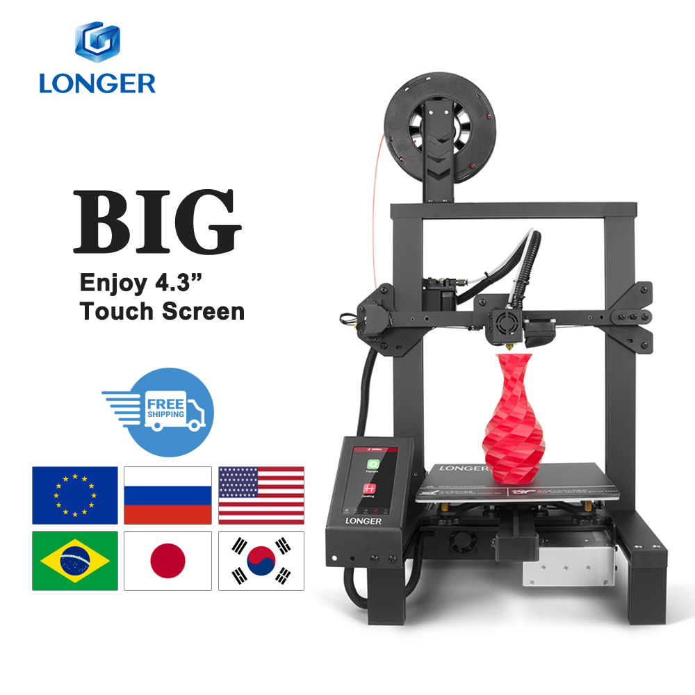 "LONGER LK4 Pro Open Source 3D Printer 4.3"" Full Color Touch Screen Full Metal High Precision Impresora 3D"
