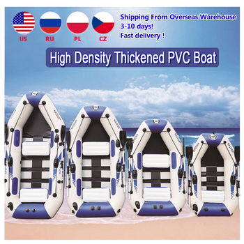 PVC inflatable boat 3 layer inflatable fishing boats laminated wear-resistant kayak boats for 2-6 person kayak rowing canoe 1 pc safety kayak canoe board paddle leash elastic paddle leash rafting rowing boats fishing rod coiled lanyard ropes 45 120cm