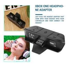 1pc Black Stereo Headset Adapter Headset Audio Adapter Headphone Converter For Microsoft Xbox One Wireless Game Controller(China)