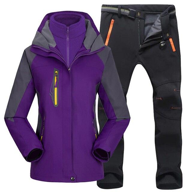 Женский походный тёплый костюм, для лыжных прогулок 3