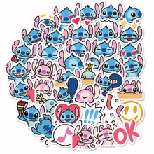 40pcs Mini Classics Lilo Stitch Cute Cartoon Stickers Scrapbooking Stickers For Luggage Laptop Notebook Toy Phone F5(China)