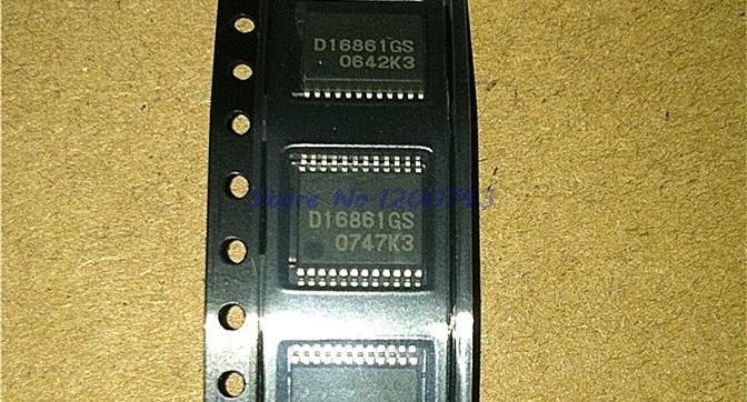 2pcs/lot D16861GS SSOP24 D16861 SSOP 16861GS SMD SOP SMD In StockIntegrated Circuits   -