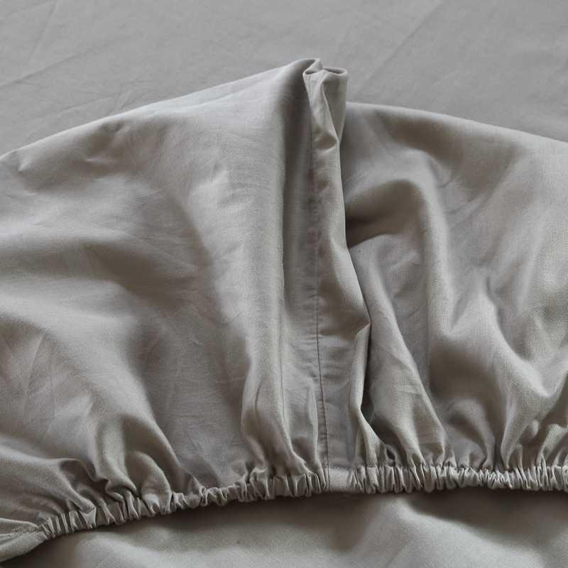 Drap-housse antidérapant 100% coton   Couverture de matelas quatre coins avec bande élastique, couverture de lit de couleur unie, multicolore en option