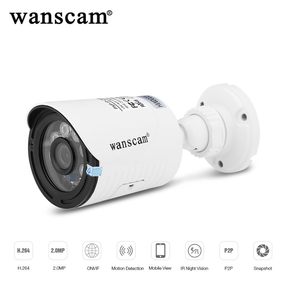 Wanscam K22 IP Camera WiFi Outdoor 1080P HD Night Vision P2P Wireless Video Surveillance Camera Security Monitor CCTV Camera