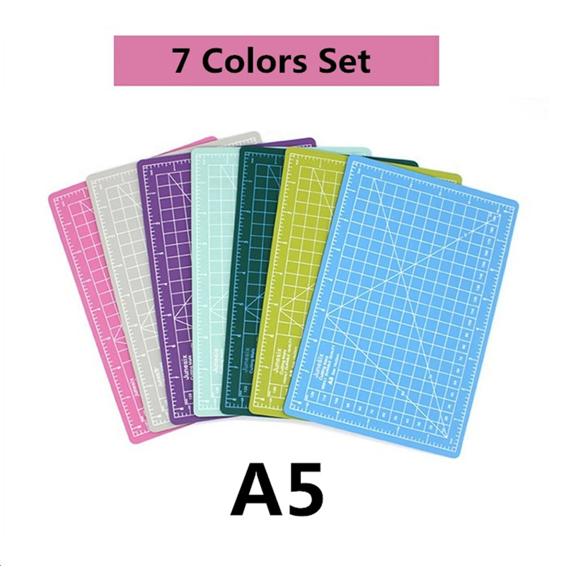 1Set A5 PVC Cutting Mat Patchwork Pad Carving Art Manual Tool Double-sided Self-healing Soft Cutter Board School Office Supplies