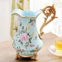 wedding decoration accessorie American Ceramic Resin Garden Retro Vase Living Room Decoration Handicraft Flower Arrangement Gift