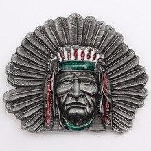 Пояс DIY аксессуары начальник индейских племен ремень пряжка западный стиль ковбой гладкой панк-рок К3