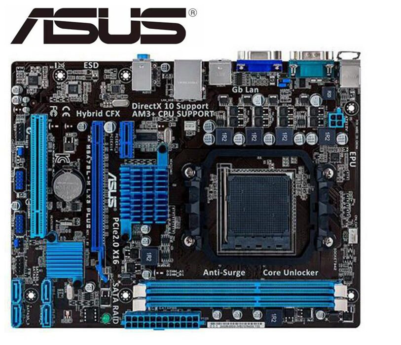 Carte mère originale ASUS M5A78L-M LX3 PLUS Socket AM3 + DDR3 USB2.0 SATAII 16GB carte mère de bureau