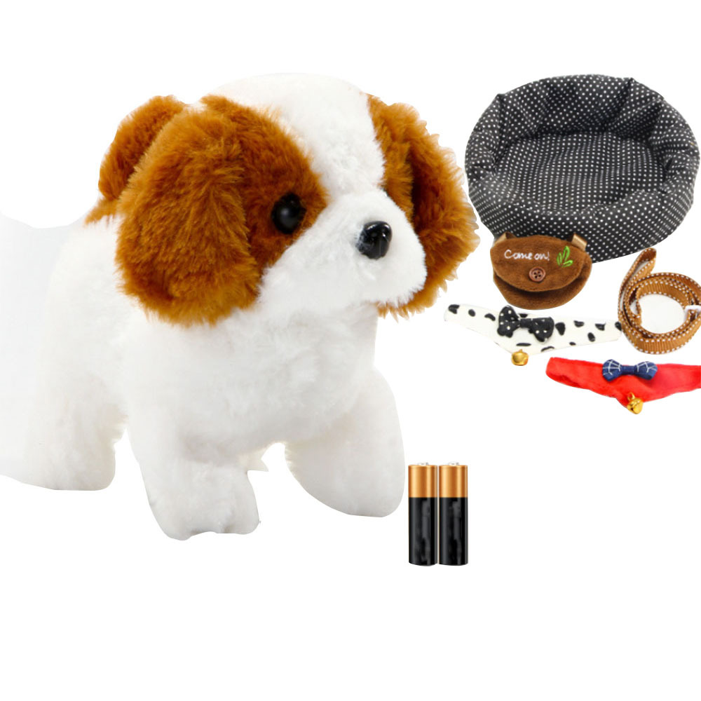 Electronic Pets Robot Dog Walking Interactive Toy for Children Kids Birthday Gifts Simulation Plush Walking Puppy Smart Toy