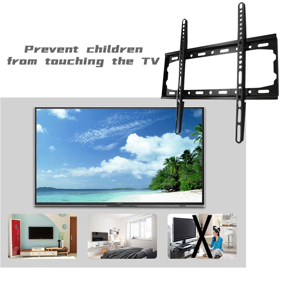 TV Bracket Universal 40kg Load-bearing TV Wall Mount Bracket Fixed Flat Panel TV Frame for 26-55 Inch TV Stand Holder