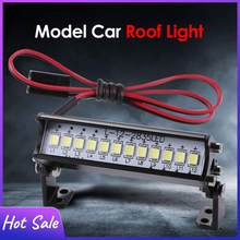 RC Car Universal 55mm 12 LED Roof Light Axial SCX10 90046 for RC Rock Crawler Truck Body Shell Lights Climbing Car Accessories