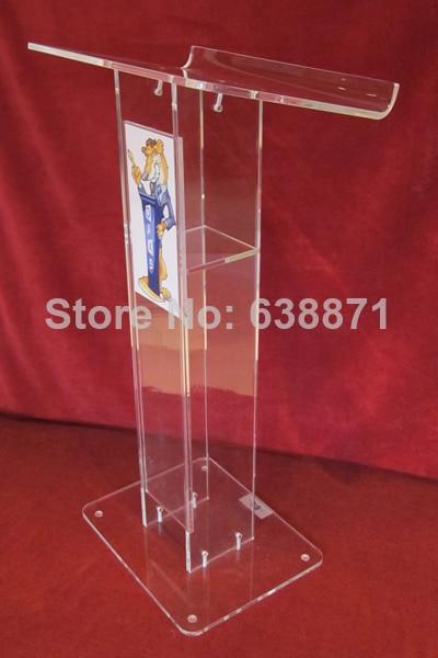 Free Shiping Transparent Acrylic Lectern Podium/acrylic Podium Pulpit Lectern