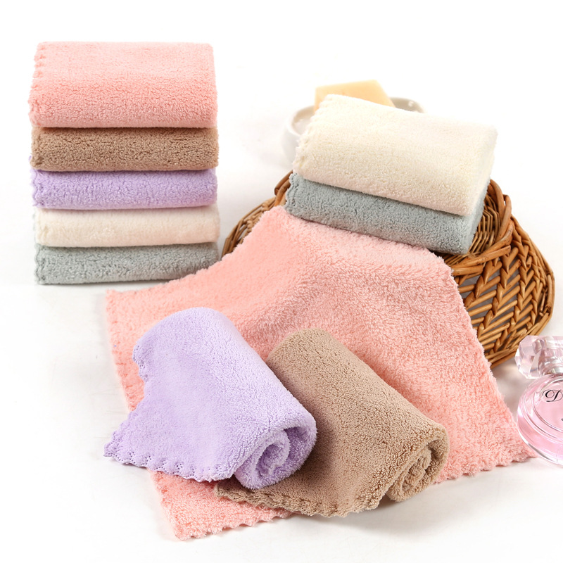 25x25cm Small Absorbent Microfiber Towel Mini Square Newborn Baby Face Hand Towels Soft Kids Baby Handkerchief Towel Washcloth