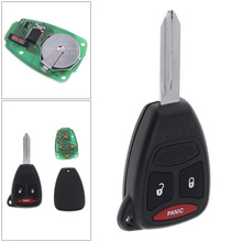 315MHz 3 Buttons Uncut Replacement Keyless Entry Car Key Remote Transmitter Fob KOBDT04A for Dodge Dakota Durango