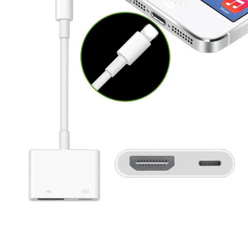 Envio o mais recente universal1080p hdmi adaptador de cabo para apple interface 8pin para hdmi conversor av digital para ipad iphone ios