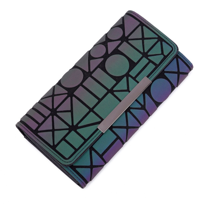 Women 39 s new wallet 30 geometric diamond cell phone bag colorful luminous bills clip card bag in Wallets from Luggage amp Bags