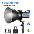 Sokani X60 V2 RGB светодиодный светильник видео светильник 2800K-10000K Bowens крепление CRI96 TLCI 95 + эффект светильник ing для фото видео