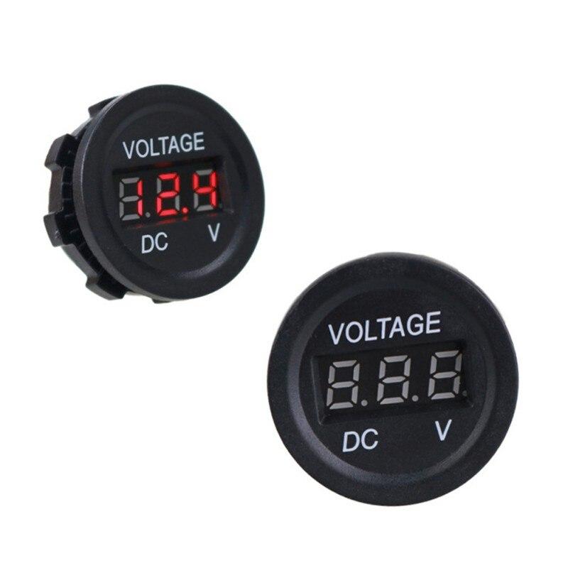 Цифровой светодиодный вольтметр для мотоцикла и автомобиля, Измеритель Напряжения аккумулятора в режиме реального времени, 3 значный, для мотоцикла и автомобиля|Кабели, адаптеры и разъемы| | АлиЭкспресс